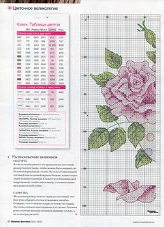 Cross-stitch Roses, part 1 with color chart... Gallery.ru / Фото #9 - ВК_9(71)_2010 г. - f-morgan SAVED