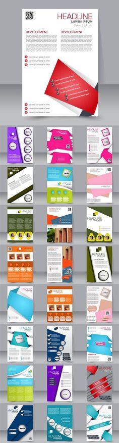 Brochure flyer template design53
