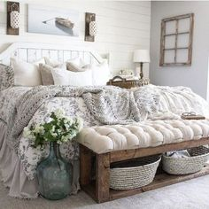 Charming Rustic Bedroom Ideas and Designs - Bedroom . Charming Rustic Bedroom Ideas and Designs - Bedroom . - Marvelous 25 Awesome Shabby Chic Apartment Living Room Design And Decor Ideas Farmhouse Master Bedroom, Master Bedroom Design, Home Bedroom, Modern Bedroom, Rustic Bedrooms, Contemporary Bedroom, 1930s Bedroom, Bedroom Designs, White Rustic Bedroom