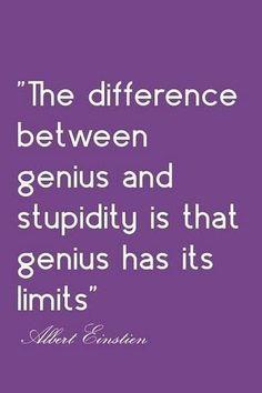 genius X stupidity