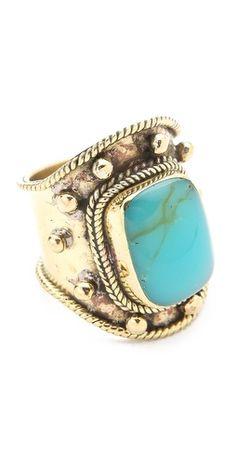 turquoise wrap ring / sunahara malibu