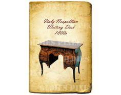 Vintage Furniture 1800s Italy Neapolitan Writing by OldiesPixel, $3.25