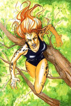 Cheetah Comic Art
