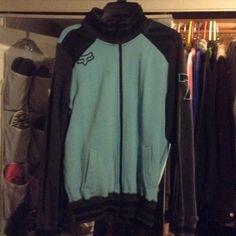 Fox sweatshirt Blue worn a few times. Fox Tops Sweatshirts & Hoodies