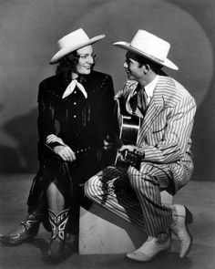 """rock-a-billy-boy: """"Audrey & Hank """" Oh Hank Old Country Music, Country Western Singers, Outlaw Country, Country Music Videos, Country Music Artists, Country Music Stars, Audrey Williams, Hank Williams Sr, Western Costumes"""