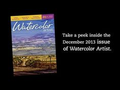 Don't worry, we won't tell anyone that you took two minutes to watch this video of fine art from Watercolor Artist. ;) Preview the December 2013 issue here... ~ch  #watercolor #fineart #beauty
