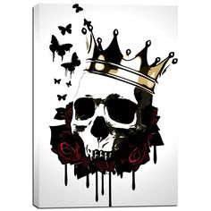 Cortesi Home 'El Rey De La Muerte' by Nicklas Gustafsson Giclee Canvas Wall Art