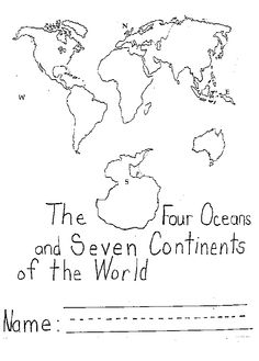 Continents & Oceans- Interpret from a map - an activity for iPads ...