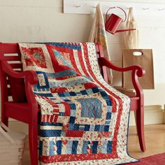 Kick back and relax! Precut bundles make it easy to create a scrappy throw that's perfect for lying out on the beach or keeping cozy on crisp evenings.