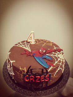raspberry cake for 4 y.o. spiderman fan