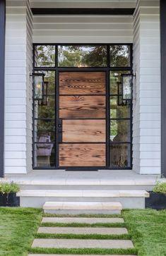 40 Awesome Minimalist Home Door Design Ideas That Look Beautiful Modern Entrance Door, Modern Exterior Doors, House Entrance, Home Door Design, Front Door Design, House Design, Style At Home, Casa Patio, House Doors