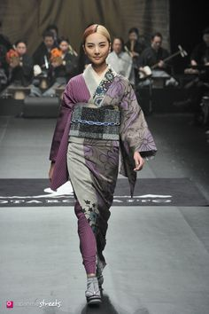 140319-7776 - Autumn/Winter 2014 Collection of Japanese fashion brand JOTARO SAITO on March 19, 2014, in Tokyo.