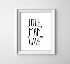 Buy One Get One Free - Art Print - Little Man Cave - Black and white nursery art - Arrows - Baby boy - Play room - Shower gift - SKU:56