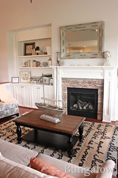 Fireplace Makeover: The Plan - Little Red Brick House