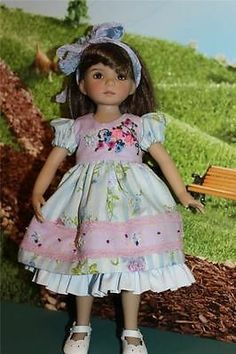 Lavender Blue for Effner Little Darlings by Alisewn | eBay. Ends 5/25/14. Start bid $99.95 or BIN $129.95. Dress, hairband, full slip with embroidered bodice, knickers.