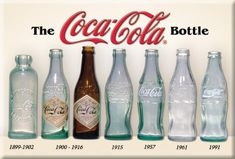 Coco-Cola, how the bottles image changed through the years, Follow Me for more past images!