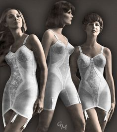 Meredith:  Mom would normally wear open bottom girdles and corselets with her stockings but she did wear panty corselets on occasions too, especially if she was wearing a longer dress.