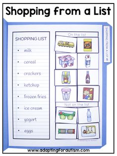 Free Life Skills File Folder Activities for Special Education - Education Job - Ideas of Education Job - Free Life Skills File Folder Activities for Special Education Adapting for Autism Life Skills Lessons, Life Skills Activities, Life Skills Classroom, Teaching Life Skills, Vocational Activities, Vocational Tasks, Special Education Activities, Special Education Classroom, File Folder Activities