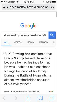 I love this Dramione ship! If you don't like it then search up 'does draco love Hermione and the answer will be..... Rowling has confirmed that Draco Malfoy teased Hermione because he had feelings for her. He was unable to express these feelings because of his family. During the Battle of Hogwarts he almost switched sides because of his love for her. #Dramione #IHateRomione! #dontshipdrarry search it up yourself!