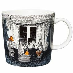 Moomin mug - True to its origins by Arabia Moomin Shop, Moomin Mugs, Helsinki, Valencia, Troll, Black N White Images, Black And White, Dragon Glass, Tove Jansson