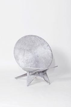 Moongazer Chair Aluminium 130 x 98 x 115 cm Unique Chair Design, Furniture Design, Slate Stone, Wall Mounted Mirror, Southern, Bronze, Flooring, Steel, Table