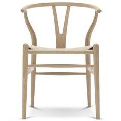 Wegner CH24 Wishbone Chair - Oak - White Oil / Natural Seat - Outlet