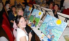 Groupon - Painting Class for 1 or 2, or Private Party for Up to 15 at Wine and Canvas Ft Lauderdale/Palm Beach (Up to 46% Off)   in Fort Lauderdale. Groupon deal price: $25