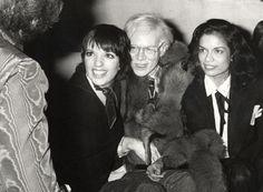 Liza Minnelli, Andy Warhol and Bianc Jagger - Studio 54 Liza Minnelli, Studio 54 New York, Studio 57, Andy Warhol, Chez Regine, Boogie Nights, Bianca Jagger, Grace Jones, Classic Image