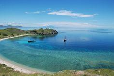just a speck in the vast ocean  Adelaar, Gili Lawa Laut Bay