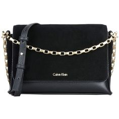 Calvin Klein Cross-body Bag (550 BRL) ❤ liked on Polyvore featuring bags, handbags, shoulder bags, black, leather purses, leather cross body handbags, leather crossbody, calvin klein purse and crossbody shoulder bag