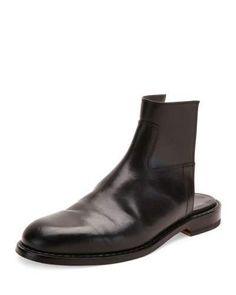 MAISON MARGIELA LEATHER CUTOUT BOOT SANDAL, BLACK. #maisonmargiela #shoes #sandals