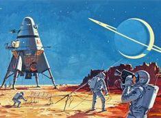 Retro-Futurism: Klaus Bürgle - space travel I