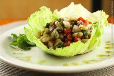 Carlini - Móoca (almoço)    Fagioli Alla Romana  Salada de feijão branco, tomates, alcaparra e folhas de hortelã