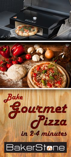 #Bakerstone Box Standard  The Pizza Oven Box's patent pending design raises the temperature of outdoor grills to that of a real wood burning pizza oven. Unmatched baking and cooking performance is achieved by combining a stone baking chamber with an enameled steel housing, creating a unique air flow system which enhances the convective, conductive and radiant heat in and around the cooking chamber
