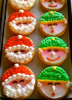 frosted Santa and His Helper cookies