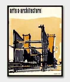 Arts & Architecture Magazine   January 1965 Cover   Martin Pinchis