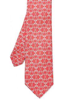 Italian Silk Tie in Derbyville in Red by J.McLaughlin