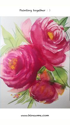 How to draw red peony with watercolor step by step tutorial Peony flowers large and beautiful, colorful, and colorful, known as the kin. Watercolor Flowers Tutorial, Step By Step Watercolor, Watercolour Tutorials, Floral Watercolor, Lotus Painting, Acrylic Painting Flowers, Flower Paintings, Oil Paintings, Landscape Paintings