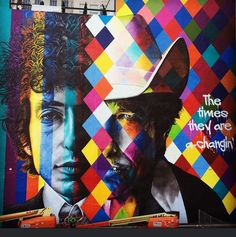 Mural em Minneapolis / Minnesota #kobra #eduardokobra #bobdylan #streetart -#minneapolis