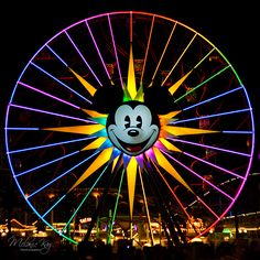 ©Melanie Kay Photography, #Disneyland, #Disney California Adventure, Ferris Wheel, Night