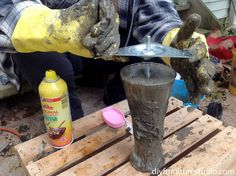DIY Cement Replacement Sofa Legs for IKEA and Other Brands | DIY Furniture Studio Furniture Legs, Furniture Projects, Furniture Making, Cement Crafts, Concrete Projects, Replacement Sofa Legs, Craft Gifts, Ikea, Wood Working