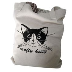 Crafty Kitty Tote Bag, £18, now featured on Fab.