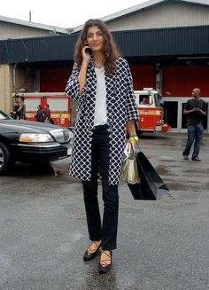 I have this Chanel coat Giovanna Battaglia is wearing