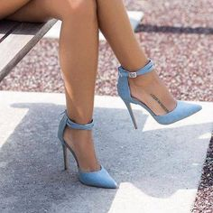 shoes - Light blue heels and tattoo Fancy Shoes, Pretty Shoes, Hot Shoes, Beautiful Shoes, Me Too Shoes, Shoes Men, Hot High Heels, High Heel Boots, Womens High Heels
