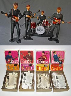 1964 Revell Beatles Model Kits - My brother and I got these when they were first released.  The Fab Four!