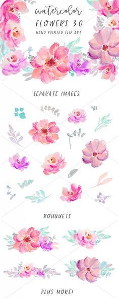 Watercolor Flowers Images Clip Art | angiemakes.com