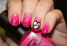 Cute valentines nails :)
