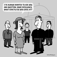 What Exactly Do You Excel At ? – Cartoon Theology Christian Cartoons, Christian Humor, Office Cartoon, Church Humor, The Office, Christianity, Positivity, This Or That Questions, Memes