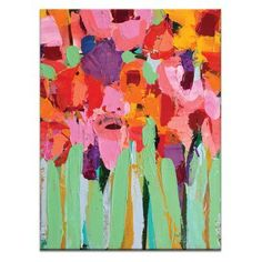 Artist Lane Field Of Flowers by Anna Blatman Wall Art - 42ABG - P2628