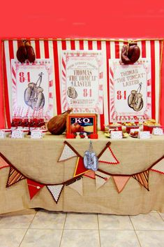 Vintage Boxing Birthday Party Ideas | Photo 1 of 45 | Catch My Party